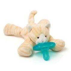 WubbaNub Tabby Kitten, (pacifier holder, soothie, pacifier, baby pacifier, binky, baby, pacifiers, soothie pacifier, lovey)