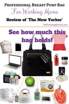 If you are looking for a Professional Breast Pump Bag for working moms, then this bag just might meet your expectations! Find out how this bag stacked up and all the stuff I was able to fit into it! Read more at ThePumpingMommy.com!