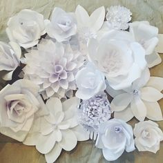 Creating a Paper Flower Backdrop: Flower 1