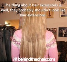 """She really nailed the """"natural"""" look here Bonded Hair Extensions, Hair Extensions For Short Hair, Kermit, Hair Quotes, Salon Quotes, Look Here, Bad Hair Day, Love Hair, Salon Marketing"""
