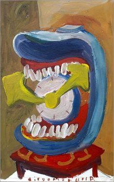 Cuadro sobre lienzo 50 x 80 cm: Clock with teeth 2 de Die... https://www.amazon.es/dp/B072R1L11P/ref=cm_sw_r_pi_dp_x_2qMDzbHB1YHKG