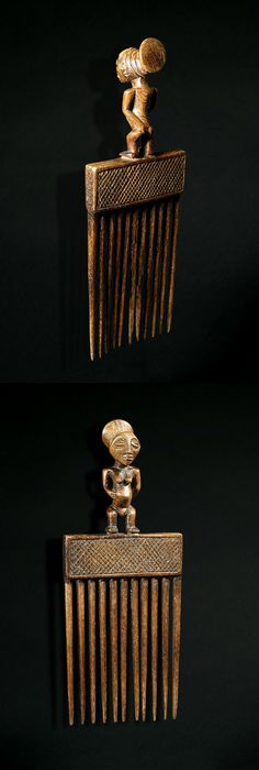 Africa | Comb from the Tchokwe people of DR Congo | Wood | Mid 1900s.