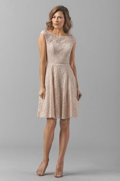 Watters - coral bridesmaid dress
