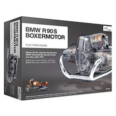 This is a working scale model of the BMW flat twin motorcycle engine, it's powered by an electrical motor and all the internal mechanical parts Model Engine Kits, Model Cars Kits, Motorcycle Icon, Motorcycle Engine, Boxer, Porsche 911 Gt3, Le Mans, Motos Bmw, Bmw Motorcycles