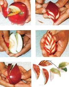 apple carved leaves | Thai Fruit & Vegetable Carving | Asian Recipes
