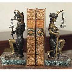 Attorney Gift - Lady of Justice Bookends
