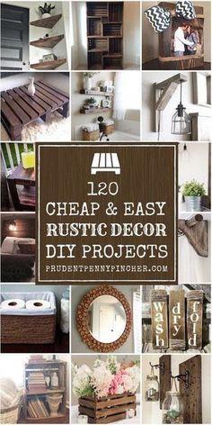 Diy Rustic Decor, Country Decor, Farmhouse Decor, Farmhouse Design, Easy Home Decor, Cheap Home Decor, Decor Crafts, Diy Furniture, Bedroom Furniture