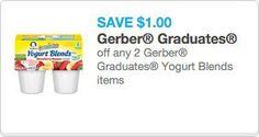 Save $1.00 on Gerber® Yogurt Blends