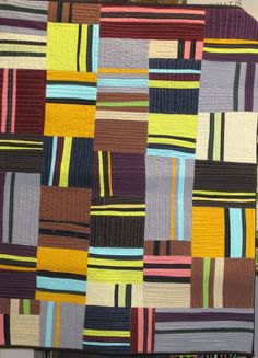 """Teddi Munslow.... wow this was immediately and unequivocally recognizable (to me anyway) as a """"Nancy Crow"""" quilt."""