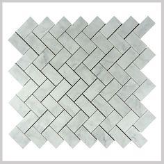 yixing kb stone 2016 good quality carrara white marble herringbone mosaic tile Bath Fixtures, Kitchen Fixtures, Marble Mosaic, Mosaic Tiles, Marble Price, Black Sink, Carrara, Yixing, White Marble