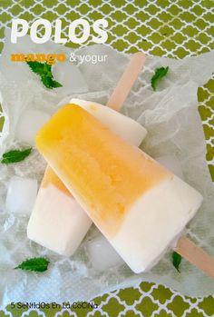 Polos de mango y yogur