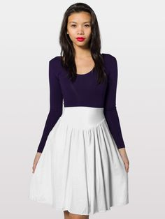 Sheer Jersey Shirred Knee-Length Full Skirt | Skirts for Women - Knee Length, Long & Mini Skirts | American Apparel ($28)