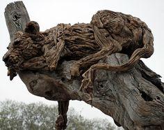 James Doran Webb Lion in tree at Chelsea Flower Show 2013