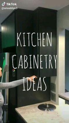 Kitchen Pantry Design, Modern Kitchen Cabinets, Diy Kitchen Storage, Kitchen Cabinet Design, Modern Kitchen Design, Kitchen Layout, Home Decor Kitchen, Interior Design Kitchen, Modern Kitchen Furniture
