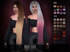 Nicki Hair by Leah Lillith at TSR • Sims 4 Updates