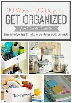 Lots of easy to follow tips and tricks to help you get {and stay!} organized!