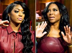 Real Housewives of Atlanta stars Porsha Stewart and Kenya Moore got into a vicious brawl during the Bravo show's reunion special on Thursday, March Us Weekly confirms -- get the details ~can't wait it see this episode! Housewives Of Atlanta, Real Housewives, Celebrity Crush, Celebrity News, Kenya Moore, Porsha Williams, The Reunion, Show Must Go On, Live Casino