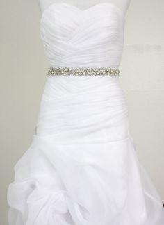 "Best Seller - MONACO II - 1"" Swarovski Pearls And Rhinestones Encrusted Bridal Sash, Wedding Beaded Belt, Crystal Belt. $135.00, via Etsy."