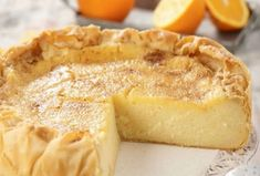 Galatopita - Greek milk pie - www.me - Fine cooking recipes for everyone Greek Sweets, Greek Desserts, Greek Recipes, Pie Dessert, Dessert Recipes, Fine Cooking Recipes, Easy Sweets, Sweet Pastries, Cookbook Recipes