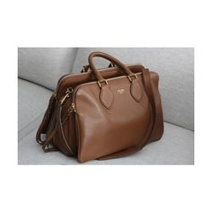 brown bag for fall found on Polyvore