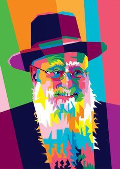 Arte Judaica, Rabbi, Priest, Worship, Christianity, Catholic, Pop Art, Religion, Spirituality