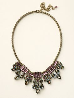 Crystal and Curb Chain Fringe Bib Necklace in Volcano by Sorrelli - $350.00 (http://www.sorrelli.com/products/NCW14AGVO)