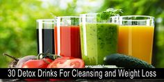 Detoxing with various beverages is a great way to help give your body the nutrients it's really craving, and can give your digestive system a
