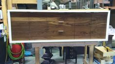 """custom Lauren sideboard with matched black walnut doors and drawers. - 30"""" high, 20"""" depth, 80"""" long . - custom sizes and configuration available"""