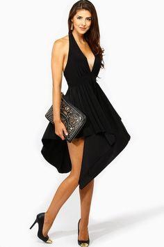 Asymmetrical Halter Dress