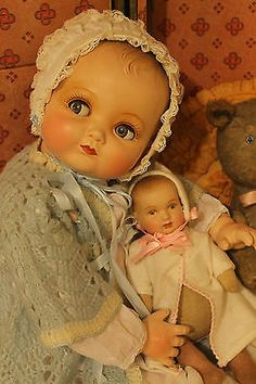 24-Composition-Cloth-Flirty-eyes-old-antique-Effanbee-Baby-Doll