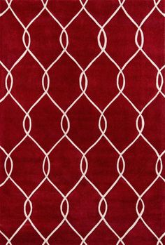 Momeni Rugs Area Rug Bliss Collection BS-12 Red