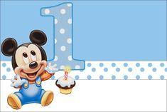 Mickey del bebé azul Poa - kit completo con los marcos para las invitaciones, las etiquetas de los dulces, recuerdos e imágenes! - Realización de mi partido