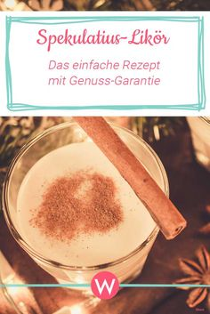 Spekulatius-Likör: Das einfache Rezept mit Genuss-Garantie Christmas stands for enjoyment. Just like a glass of liqueur. So what could be better for Advent than a speculoos liqueur? Easy Alcoholic Drinks, Drinks Alcohol Recipes, Winter Drinks, Summer Cocktails, Apple Cider Sangria, Healthy Summer Recipes, Ideias Diy, Sangria Recipes, Liqueur