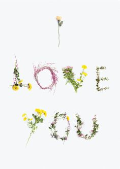 I love you floral flower card by WhaleAndTheWorkshop on Etsy Flower Words, Flower Quotes, My Flower, Flower Art, No Rain No Flowers, Love Flowers, Floral Flowers, Beautiful Flowers, Beautiful Gif