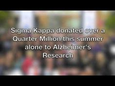 Sigma Kappa Recruitment This video makes me so proud to be a SigKap and I would love to make a video like this for Recruitment. Go Greek, Greek Life, Sigma Kappa, Theta, Alzheimer's Association, University Of Denver, Alzheimers, Sorority, Watch