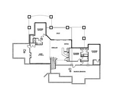 The Dallin Mountain Home has 2 bedrooms, 2 full baths and 1 half bath. See amenities for Plan 101S-0018.