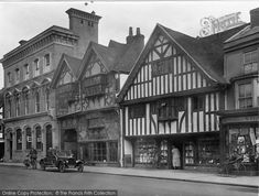 Photo of Farnham, Old Houses, The Borough 1924 Farnham Surrey, Vaulting, Old Houses, Louvre, Street View, History, Building, Historia, Old Homes