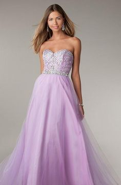 Fashion A-Line Floor Natural Sweetheart Sleeveless Prom Dress kaladress13574