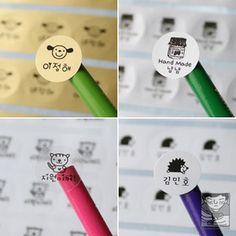 [韓国雑貨] 私だけのハングルネームBling Bling ステッカー (丸型小) [選べる2セット ] 韓国音楽専門ソウルライフレコード