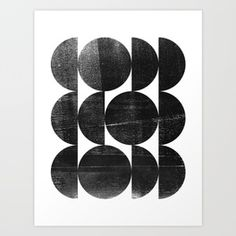 Black and White Mid Century Modern Op Art Art Print by mininst Black And White Aesthetic, Black And White Abstract, Canvas Art Prints, Fine Art Prints, Geometric Art, Op Art, Abstract Print, Wood Print, Printable Art