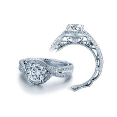 Shop online VERRAGIO V5026 Vintage White Gold Diamond Engagement Ring at Arthur's Jewelers. Free Shipping