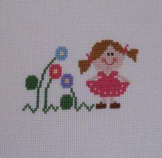 quilting like crazy Tiny Cross Stitch, Easy Cross Stitch Patterns, Simple Cross Stitch, Cross Stitch Kits, Cross Stitch Designs, Knitting Patterns Free Dog, Crochet Blanket Patterns, Baby Knitting, Cross Stitching