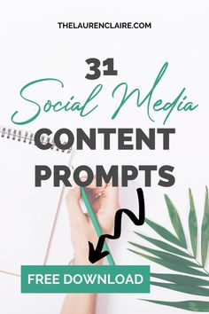 Are you struggling to come up with new ideas for content across your social media platforms? With this FREE download, you don't have you worry anymore. Get a month of free content and CTA's (call to actions) done for you inside Lauren Claire's content guide. Social Media Trends, Social Media Content, Online Marketing, Social Media Marketing, Marketing Strategies, Pinterest Marketing, Platforms, Online Business, How To Start A Blog