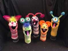 unique handmade sock puppets
