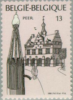 Stamp: Tourism (Belgium) (Tourism) Mi:BE 2343,Sn:BE 1292,Yt:BE 2291,Sg:BE 2954,AFA:BE 2351,Bel:BE 2291