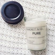 BLACKETT & CO. our natural and unscented Pure soy candle 🙌🏻