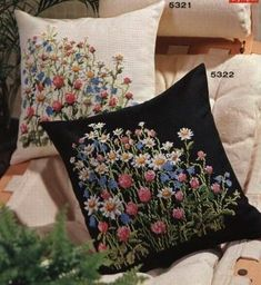 Thrilling Designing Your Own Cross Stitch Embroidery Patterns Ideas. Exhilarating Designing Your Own Cross Stitch Embroidery Patterns Ideas. Pillow Embroidery, Silk Ribbon Embroidery, Embroidery Art, Cross Stitch Embroidery, Embroidery Patterns, Machine Embroidery, Stitch Patterns, Embroidered Cushions, Embroidered Flowers