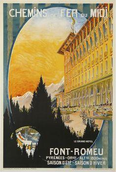 Font-Romeu - 1930 - affiches anciennes de ANONYM
