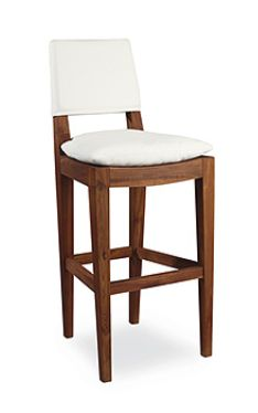 Designer Chic Bar Stool Made Of Teak Wood. Luxury And Elegant Bar And  Counter Stools In The Miami Design District.