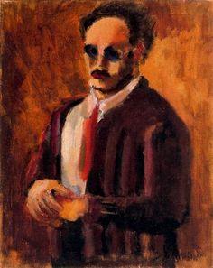 """Uit """"Ik maak kunst dus ik ben"""" op http://charlottedemey.be/ik-maak-kunst-dus-ik-ben/  Mark Rothko, zelfportret,via wikiart"""